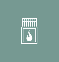 matches icon simple vector image