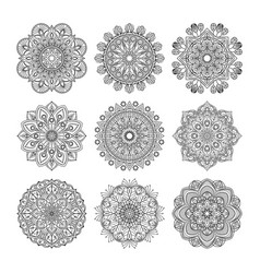 meditation pattern indian vector image