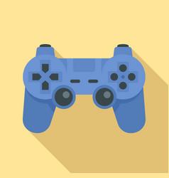 modern gamepad icon flat style vector image