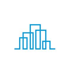 modern line art city logo template city skyline vector image