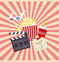 movie and film elements in flat design vector image