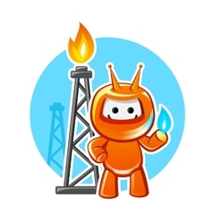 Natural gas industry mascot vector