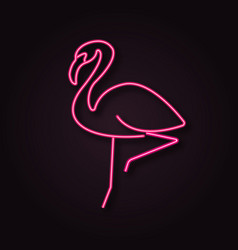 neon flamingo vector image