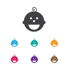 Of child symbol on son icon vector