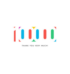 one hundred thousand subscribers baner colorful vector image