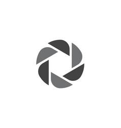 photography logo design template vector image