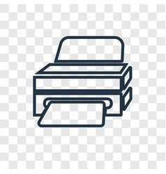Printer concept linear icon isolated on vector