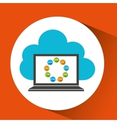programming languages computer cloud design vector image
