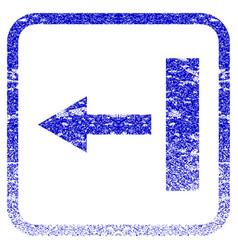 Pull left framed textured icon vector