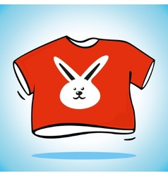 Red t-shirt vector
