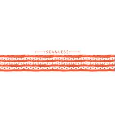 romantic horizontal seamless border valentines vector image