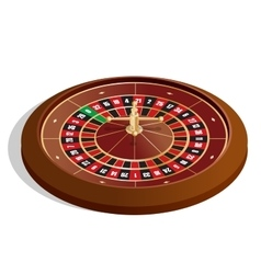 Roulette wheel 3d image Realistic casino vector