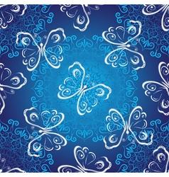 Seamless dark blue christmas luxurious pattern vector