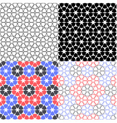 Set arabic background with seamless pattern in vector