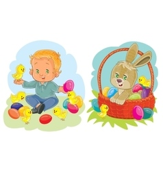 Set clip art with young children on vector