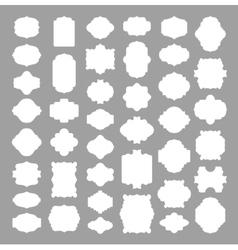 Set of 41 blank frame and label elegant banner vector