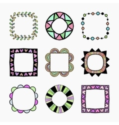Set of nine frames vector