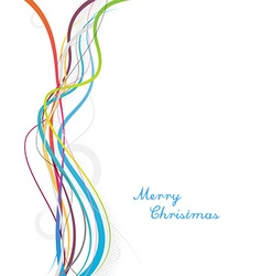 Simple christmas background with colorful lines vector