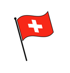 simple flag icon vector image