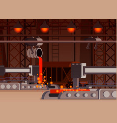 Steel production flat composition vector