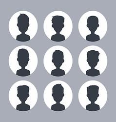Unknown male silhouette vector