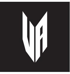 va logo monogram with emblem style isolated vector image
