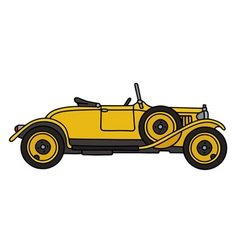 Vintage yellow roadster vector