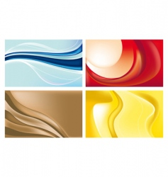 wave backgrounds vector image