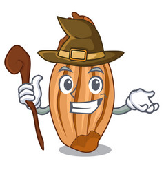 Witch ripe shallot isolated on a mascot vector