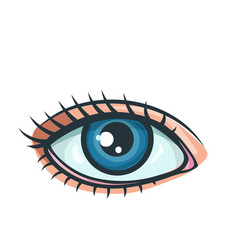 woman eye icon vector image