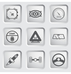 Car part and service icons set 7 vector image