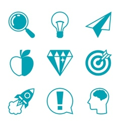 Idea concept icons in flat design style vector image vector image