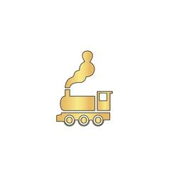 locomotive computer symbol vector image vector image