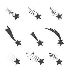 meteorites and comets vector image
