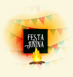american festa junina holiday background vector image
