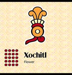 Aztec symbol Xochitl vector image vector image