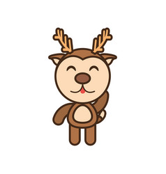 baby reindeer animal funny image vector image