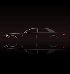 business luxury prestige car vector image vector image
