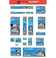 Standard size web banners - Real Estate vector image vector image