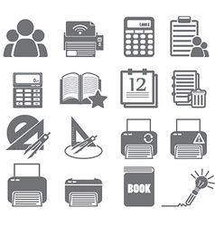 Tools learning icon set 4 vector
