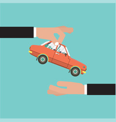 Car for vehicle sales agreement vector