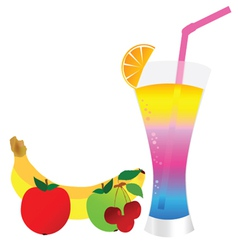 cocktail with fruit vector image