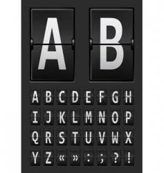 Vector alphabet of mechanical vector
