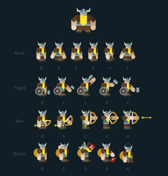 Viking steps for animation vector image