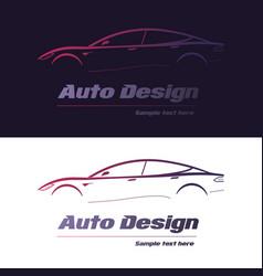 abstract car design concept automotive topics vector image vector image