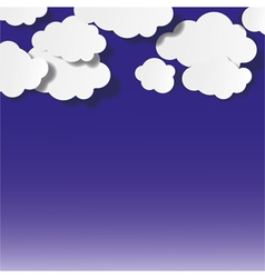 Abstract Clouds Background vector image vector image