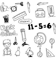 art back to school doodles vector image