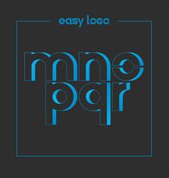 letter m n o p q r logo alphabet icon set vector image