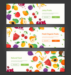 Natural food - set of modern colorful vector