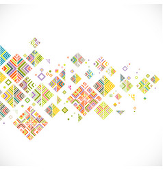 abstract colorful geometrical template vector image